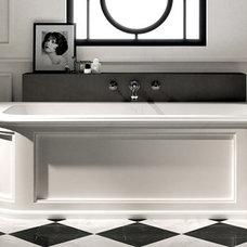 Transitional Bathtubs by Designer's Plumbing Studio