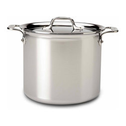 All Clad - All Clad SS Stockpot, 7 qt. - Timeless design, outstanding performance, effortless cleaning and lifetime durability come together to make the Stainless Collection cookware  All-Clads most popular. Featuring innovative bonded construction combining an interior layer of aluminum for even heating and an 18/10 stainless cooking surface for optimum culinary performance, All-Clad Stainless cookware is a classic expression of ideal form and function. Premium tri-ply construction with an aluminium core to deliver even heat distribution.