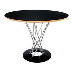 Fine Mod Imports - Wire Dining Table in Black - Features: