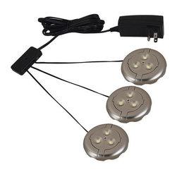 Sea Gull Lighting - Sea Gull Lighting 98863SW Ambiance LED Disk Lighting 3 LED Puck-Light Kit - Specifications: