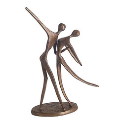 None - Cast Bronze 'Dancing Couple' Statue - Add a 'Dancing Couple' statue to your home decorStatue is handcrafted and cast using the sand casting methodBronze statue will make a wonderful gift for the dance aficionado