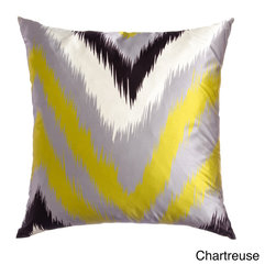 None - Flare 20-inch Feather-filled Throw Pillows (Set of 2) - These Flare Decorative pillows will add a dash of luxury to any sofa or chair. This set of two throw pillows features a knife edge that will coordinate beautifully with your design theme.