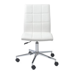 Euro Style - Coy Office Chair - 1-Year manufacturer's warranty. 24.4 in. W x 24.4 in D x 39.4 in. H (19.8 lbs.)Grand ideas for small spaces, the smooth and clean geometric shapes give your rooms a trendy, up-to-date look. The furniture design make your rooms stylish and sophisticated, symbolizing your self confidence.