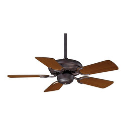 "31"" Pine Harbor Ceiling Fan - Adaptable to a wide range of spaces, this simple ceiling fan flaunts signature Savoy House quality with a stately English Bronze finish. Features reversible fan blades for optimal customization! Choose between Walnut and Teak blade colors. Blades included. Weight: 11. 00 lbsFinish: English BronzeNumber of Arms: 5Fan Blade Color: Walnut/TeakBulbs Included: NoBlade Pitch: 14. 00Light Kit Included: NoSafety Rating: UL,CULVoltage: 120"