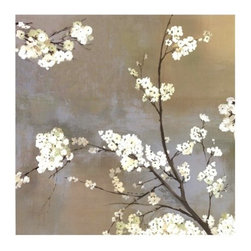 """Ode to Spring I"" Fine Art Print by Asia Jensen - What says spring more than fresh, new blossoms? I love the juxtaposition of the white blooms against the stormy background. Spring storms are one of my favorite things about living in Kansas."