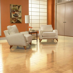 Maple Engineered Floor - This is an engineered, natural maple floor. Natural means that the floor hasn't been stained, just clear coated.