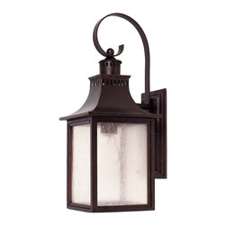 Karyl Pierce Paxton - Karyl Pierce Paxton 5-258-13 Monte Grande Transitional Outdoor Wall Sconce - A grand welcome for any stately address &#8212: at an incredible price. finished in English Bronze with pale cream seedy glass, these fixtures create an easy appearance of unmistakable exterior elegance.