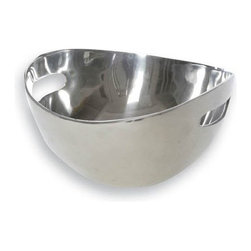Lunares - Small Tulip Bowl - Any food item will look delicious in this classic and clean, hand made serving dish. It's food safe and can go oven to table (up to 350 degrees).