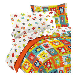 CHF Industries Inc - Silly Monsters Twin Bedding Set 5 Piece Colorful Animals Bed - Features:
