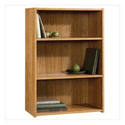 Sauder - Sauder Beginnings 3 Shelf Bookcase in Highland Oak Finish - Sauder - Bookcases - 413322 -