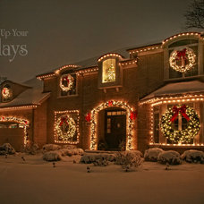 Traditional Exterior by Light Up Your Holidays