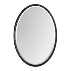 Uttermost - Uttermost 01116 Casalina Oil Rubbed Bronze Oval Mirror - Uttermost 01116 Casalina Oil Rubbed Bronze Oval Mirror