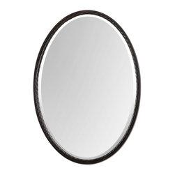 Uttermost - Uttermost 01116 Casalina Oil Rubbed Bronze Oval Mirror - Uttermost 01116 Casalina Oil Rubbed Bronze Oval Mirror