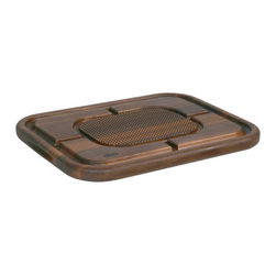 John Boos - Mayan Carving Board - Pyramids & Grooves, Maple or Walnut - Boos' Mayan butcher block with mini pyramids to grip meat and grooves to channel meat juice. Convenient hand grips make it easy to flip. In maple or walnut.