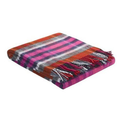 Johnstons of Elgin Shetland Wool Throw Blanket - This red and pink Shetland wool plaid throw is sure to add sparks in your decor. It comes in so many colorways that I would have a hard time deciding which to get.