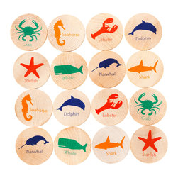 Tree Hopper Toys - Match Stacks - Sea Things - A Tree Hopper twist on a classic educational game! MATCH STACKS is a durable, portable, and super cute memory and matching game.