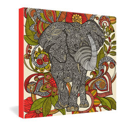 DENY Designs - Valentina Ramos Bo The Elephant Gallery Wrapped Canvas - A cheery synthesis of color and pattern, artist Valentina Ramos' rendering of a playful pachyderm is sure to delight and inspire you. Reproduced in fadeproof ink on stretched canvas, this merry mammal will add an exotic touch to any room.