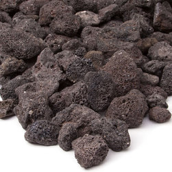Real Flame - Black Lava Rock - Enhance the look of your Real Flame Propane Fire Tables with this optional filler. These gorgeous fire stones are not only highly rated for prolonged high heat exposure,but will enhance the look of your fire table.