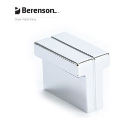 9210-1026-P Polished Chrome Cabinet Knob by Berenson - Polished Chrome modern style cabinet knob.  Distinguished by smooth, clean, geometric shapes this collection focuses on the less is more approach. The intricate balance of bold yet simple is what makes this style so sophisticated. Available Finishes: Brushed Nickel, Black, Polished Chrome