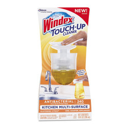Windex - Windex Touch-Up Cleaner, 10 oz Bottle, Citrus Scent - Designed to be left out and readily at-hand for accessibility. Effectively cleans multiple surfaces throughout kitchen including high-value surfaces such as sealed granite, sealed marble, and exterior of appliances. Not only does it kill 99.9% of bacteria, it also offers a great fragrance for your kitchen and bathroom. Just Dab it. Clean it. Done.