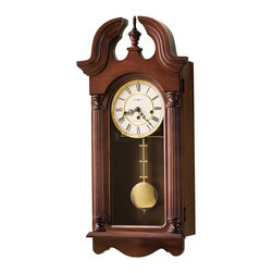 Howard Miller - Howard Miller Key Wound Chiming Wall Clock in Cherry Finish | DAVID - 620234 David