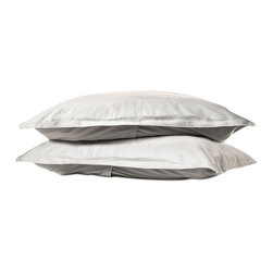 Parachute - Parachute Percale Shams, Ash, Standard - Most easily compared to the perfect white shirt, Parachute's percale shams are cool and crisp to the touch, and the perfect compliment to any decor. Featruing their signature back envelope closure, Parachute's shams have a half-inch border to add a simple, yet decorative touch.