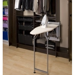 Sidelines Pressing Perfection Ironing Board System folds down, Swivels - Sidelines' space-saving, easy-mount Pressing Perfection ironing board takes a wrinkle out of time by putting a crease in your pants right where they live, in the closet!
