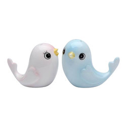 ATD - Pale Pink Bird and Pale Blue Bird Salt and Pepper Shakers - This gorgeous 2.25 Inch Pale Pink Bird and Pale Blue Bird Salt and Pepper Shakers has the finest details and highest quality you will find anywhere! 2.25 Inch Pale Pink Bird and Pale Blue Bird Salt and Pepper Shakers is truly remarkable.
