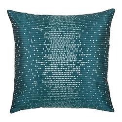 """Peacock Blue Teal 18"""" x 18"""" Pillow  Set of 2 - *18"""" x 18"""" Pillow with Hidden Zipper"""