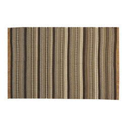 100% Wool Reversible Durie Kilim Flat Weave Hand Woven 4'x6' Striped Rug SH15654 - Soumaks & Kilims are prominent Flat Woven Rugs.  Flat Woven Rugs are made by weaving wool onto a foundation of cotton warps on the loom.  The unique trait about these thin rugs is that they're reversible.  Pillows and Blankets can be made from Soumas & Kilims.