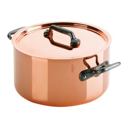 Mauviel - Mauviel M'150c Copper and Stainless Steel Stewpot/Dutch Oven - Bilaminated copper stainless steel (90% copper and 10% 18/10 stainless steel)