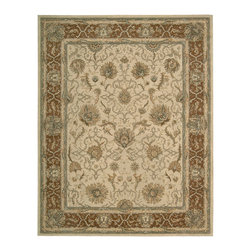 """Nourison - Nourison Heritage Hall HE27 7'9"""" x 9'9"""" Mist Area Rug 01218 - You'll be walking on air when you bring home this beauty. Its lush density of texture is made even more appealing by the delicate color scheme in soft, misty greys and browns and the rich patination of its fine wool yarns. A signature look for the connoisseur's collection."""