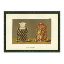 Smith & Co. - Sponge Cake Desserts Wall Art - Spice up your space with this vintage wall art, featuring detailed depictions of mouth-watering desserts.   Image: 13'' W x 9'' H Glass / ink / paper / wood Made in the USA