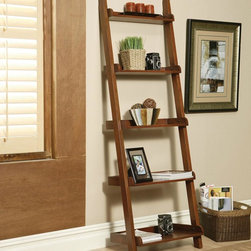 Coaster - Mahogany Transitional Bookcase - Weathered black and warm rich mahogany book shelves. Use them alone or stack them up side by side.