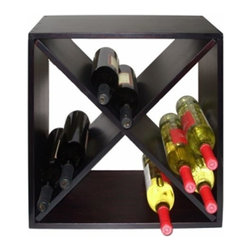 Vinotemp - Diamond Bin Wine Rack (24 Bottles) - The Vinotemp Diamond Bin Wine Rack features a sturdy wood construction and compact design, which makes it perfect for counter top placement. This modular rack features a black finish and is perfect for either commercial or individual usage.