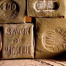 Eclectic Bathroom Accessories Savon de Marseille Olive Oil Soaps