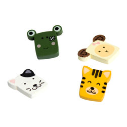 Blancho Bedding - Lovely Animals-2 - Refrigerator Magnets / Animal Magnets - These magnets are made of quality samak, a hard metal base. Put them on your refrigerator, locker, file cabinet or any metal object you can think of! Magnets are great party favors for your next gathering and also make great prizes/giveaways. This extremely versatile magnetic system can be easily changed for every occasion or season to celebrate those important people and times in your life. Use this system in your home or office for a wonderful memory decoration. They are wonderful gifts for everyone!
