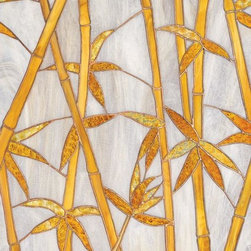 Home Decorators Collection - Bamboo Stained Glass Window Film - We've captured the tranquil nature of the Bamboo Plant with our Stained Glass Window Film. The repeating pattern enables either a vertical or horizontal fit. This thin, flexible window film, self adheres to any smooth glass surface. Made of a durable vinyl that can be removed in minutes and leaves no residue. Not affected by heat, cold, steam or humidity. Provides UV protection.