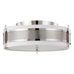 Nuvo Lighting - Nuvo Lighting 60-4447 Diesel 4-Light Large Flush with Slate Gray Fabric Shade - Nuvo Lighting 60-4447 Diesel 4-Light Large Flush with Slate Gray Fabric Shade