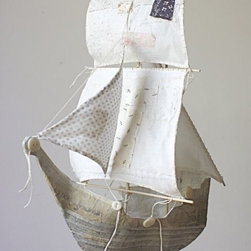 The Gulnare - This handmade ship mobile is a stunner. What better item to design a baby's nursery around?