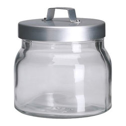 BURKEN Jar with Lid - I found this in the kitchen section, but it's very versatile. Use in your kitchen, bathroom, office or craft room.