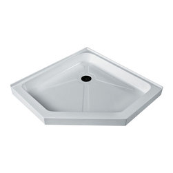 Vigo - 47 x 47 Short - Low Profile Neo-Angle Shower Tray White - This Low Profile VIGO shower tray serves as an excellent solution to prevent leaks for your custom or pre-built shower enclosure.