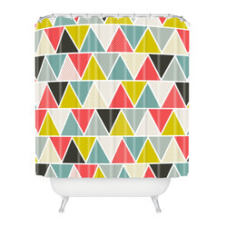Heather Dutton Triangulum Shower Curtain Shower Curtain