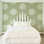 Elizabeth Lace Doily Stencil - Elizabeth Lace Doily Stencil from Royal Design Studio. Lacey and feminine pattern for a classic design on walls, furniture, floors, or fabrics.