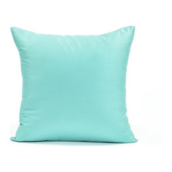 """Blooming Home Decor - Solid Tiffany Blue Accent / Throw Pillow Cover, 20""""x20"""" - (Available in 16""""x16"""", 18""""x18"""", 20""""x20"""", 24""""x24"""", 26""""x26"""", 12""""x20"""", 20""""x54"""")"""