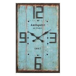 Uttermost - Antiquite de Paris Wall Clock - Antiquite de Paris Wall Clock has charming vintage details,