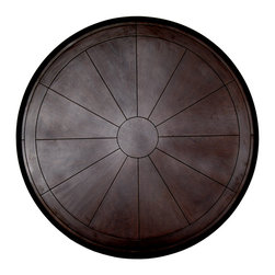 GILANI - Wood Parquetry Table Tops (Round) - Wood Parquetry Table Top (Round). Various sizes available with ogee or flat edge. Various wood stains available. Designed by Shah Gilani, ASFD.