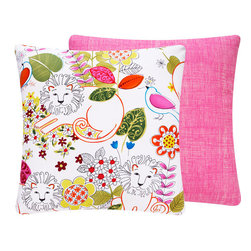 Hear Me Roar Throw Pillow for Girls l Chloe and Olive - Chloe & Olive