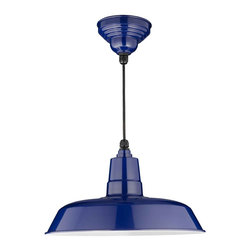 "Cocoweb - 16"" Oldage Ceiling Barn Light, Cobalt Blue, 16 - BODY SHAPE"
