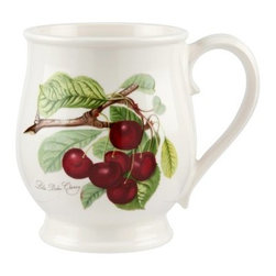 Portmeirion Pomona Classics Tankard/Bristol Mug - Set of 6 - About PortmeirionStrikingly beautiful, eminently practical, refreshingly affordable. These are the enduring values bequeathed to Portmeirion by its legendary co-founder and designer, Susan Williams-Ellis. Her father, architect Sir Clough Williams-Ellis, was the designer of Portmeirion, the North Wales village whose fanciful architecture has drawn tourists and artists from around the world (including the creators of the classic 1960s TV show The Prisoner). Inspired by her fine arts training and creation of ceramic gifts for the village's gift shop, Susan Williams-Ellis (along with her husband Euan Cooper-Willis) founded Portmeirion Pottery in 1960. After 50+ years of innovation, the Portmeirion Group is not only an icon of British design, but also a testament to the extraordinarily creative life of Susan Williams-Ellis.The style of Portmeirion dinnerware and serveware is marked by a passion for both pottery manufacturing and trend-setting design. Beautiful, tactile, nature-inspired patterns are a defining quality of Portmeirion housewares, from its world-renowned botanical designs modeled on antiquarian books to the breezy, natural colors of its porcelain and earthenware. Today, the Portmeirion Group's design legacy continues to evolve, through iconic brands such as Spode, the Pomona Classics collection, and the award-winning collaboration of Sophie Conran for Portmeirion. Pomona for Portmeirion:Classical in both its inspiration and its style, the Pomona Collection from Portmeirion Group is a garden of earthly delights. Named for the ancient Roman goddess of fruit and abundance, its lifelike patterns and fruit motifs are inspired by a collection of early 19th-century books of hand-colored botanical drawings. The Pomona Collection was introduced in 1982 by legendary designer and Portmeirion co-founder Susan Williams-Ellis, whose iconic garden- and botanical-themed designs are still among the world's most pop